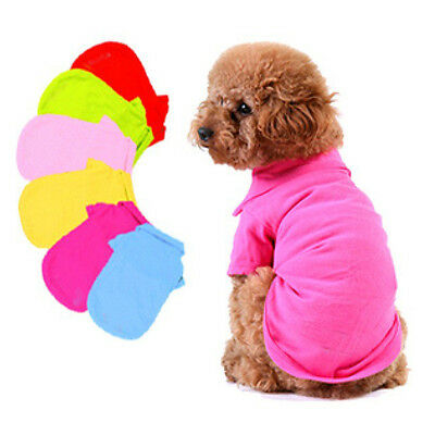 NWT Pet Doggy Apparel Dog Cute POLO Cool Puppy Clothes T-Shirts Size XS S M L