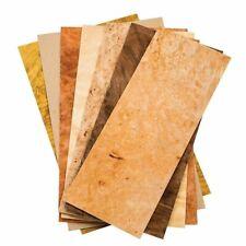 Mixed Variety Burl Hardwood Wood Veneer Pack 3 Sq Ft Rawunbacked