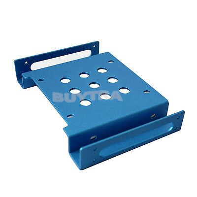 """5.25"""" to 2.5"""" & 3.5""""HDD/SSD Hard Drive Aluminum Mobile Bracket Rack Caddy"""