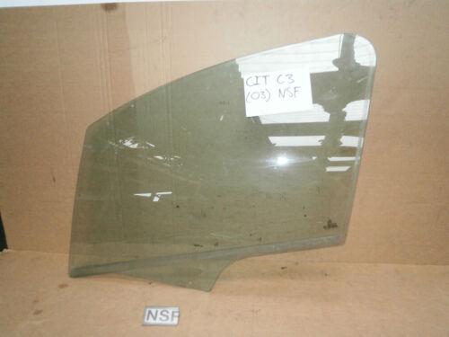 CITROEN C3 2002-2009 5DOOR NEARSIDE PASSENGER SIDE FRONT DOOR WINDOW GLASS
