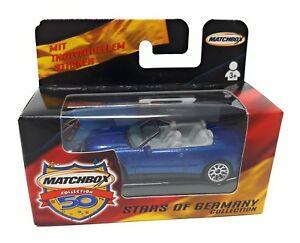 Matchbox-Superfast-1-75-Mercedes-Cabrio-blau-Deutsches-Modell-Stars-of-Germany