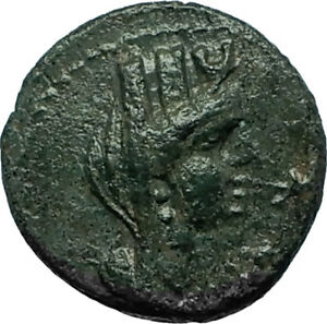 SIDON-In-PHOENICIA-Ancient-87AD-Authentic-Greek-Coin-TYCHE-amp-GALLEY-Ship-i66515