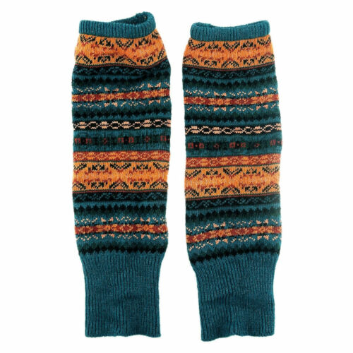 Damen Overknee Socken Kniestrümpfe Winter Strick Lang Tribal Stulpen Beinwärmer