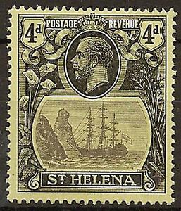 ST-HELENA-1922-27-4d-BROKEN-MAINMAST-SG92a-LHM-CAT-275