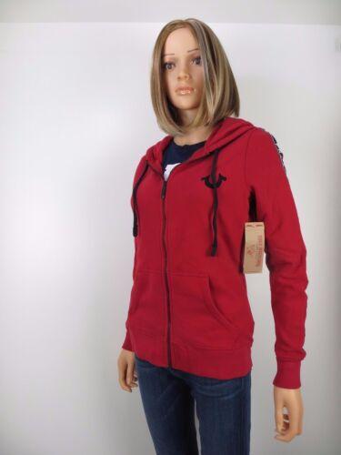 Religion détail Rouge au Sweat 129 M Nwt rubis taille True vente Horseshoe capuche à Zip Active 456fwSnqB