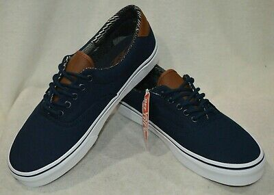 Vans Men's C&L Era 59 Dress Blue Material Mix Skate Shoes ...