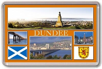 Scotland TOURIST FRIDGE MAGNET DUNDEE Large