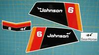 Johnson Outboard Hood Decals 6 Hp 1976