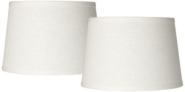 Bwood White Drum Lamp Shades Set Of, Lamp Shade White Linen Drum