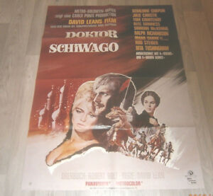 A1-Filmplakat  DOKTOR SCHIWAGO , OMAR SHARIF,GERALDINE CHAPLIN,JULIE CHRISTIE