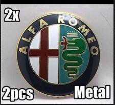 2x74mm Satz ALU Alfa Romeo Vorne & Hinten Emblem Logo Mito Giulietta GTV 147