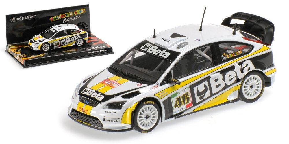 Minichamps Ford Focus RS WRC 'Beta' Monza 2008 - Valentino Rossi 1 43 Scale