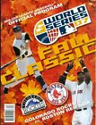 2007 World Series Program: Colorado Rockies vs Boston Red Sox
