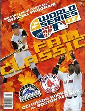 2007 World Series Program: Colorado Rockies vs Boston Red Sox