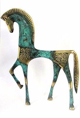 Ancient Greek Bronze Museum Statue Replica Of A Geometric Era Horse Collectable