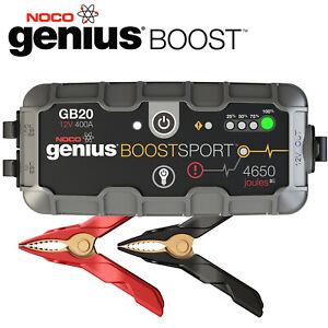 Noco Genius Boost Sport Gb20 400a Lithium Booster Démarreur Piles 12v Moto Excellent Effet De Coussin