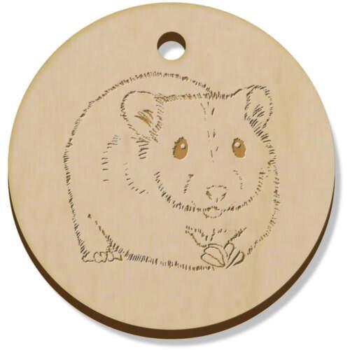 PN00058362 11 X 34mm /'Hamster/' De Madera Colgantes//encantos