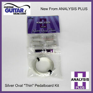Analysis-Plus-Silver-Oval-Thin-Solderless-Patch-Cable-Kit