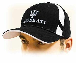 Symbole De La Marque Maserati Casquette / Unisex Baseball Cap, Noir Avec Couronne Logo Toutes Tailles Pas De Frais à Tout Prix