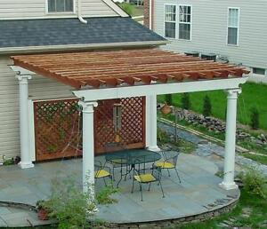 Image Is Loading Patio Or Deck Pergola With Tuscan Column Design