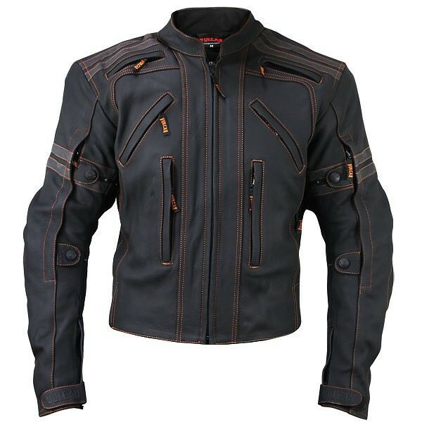 Vulcan VTZ-910 Armored Motorcycle Street Matte Premium Cowhide Leather Jacket