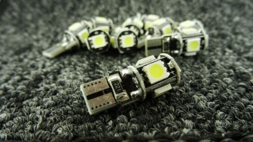 VOLKSWAGEN CAR LIGHT BULBS LED 501 194 168 W5W CANBUS 5 SMD XENON