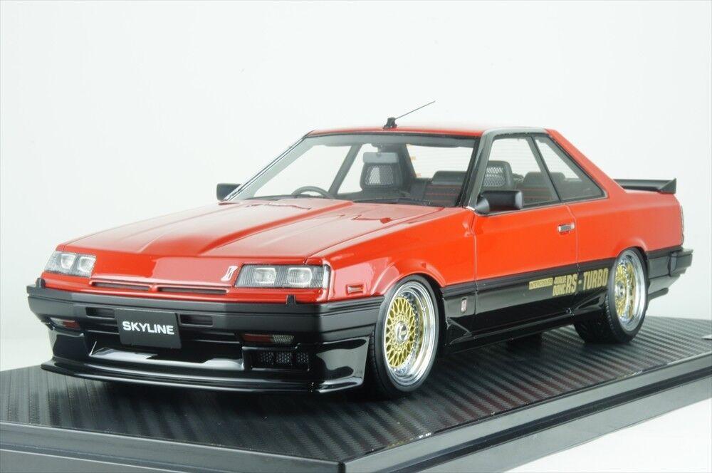 Ignición Modelo 1 18 Nissan Skyline 2000 Rs-x TurboC (R30) IG0988 rueda BB rojo