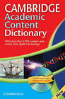 Cambridge Academic Content Dictionary Reference Book with CD-ROM by Cambridge University Press (Mixed media product, 2008)