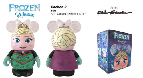 "DISNEY STORE VINYLMATION 3/"" FROZEN EACHEZ ELSA SNOW QUEEN COLLECTIBLE TOY FIGURE"