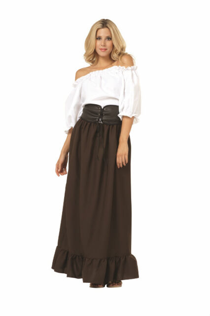 RENAISSANCE PEASANT WOMAN LADY PIRATE WENCH BAR MAID MEDIEVAL COSTUME 81120