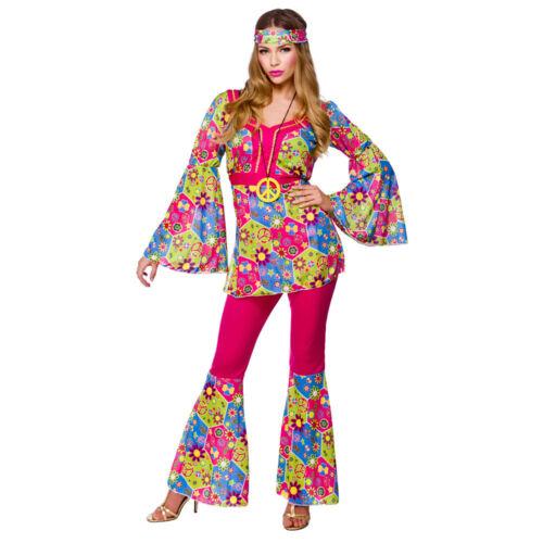 Feelin Groovy Hippy Hippie 1960/'s Woodstock Adults Womens Fancy Dress Costume