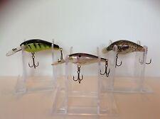 Lot of 3 Vintage Fishing Lures Crankbaits CORDELL DEEP RUNNER 5 STRKE KING