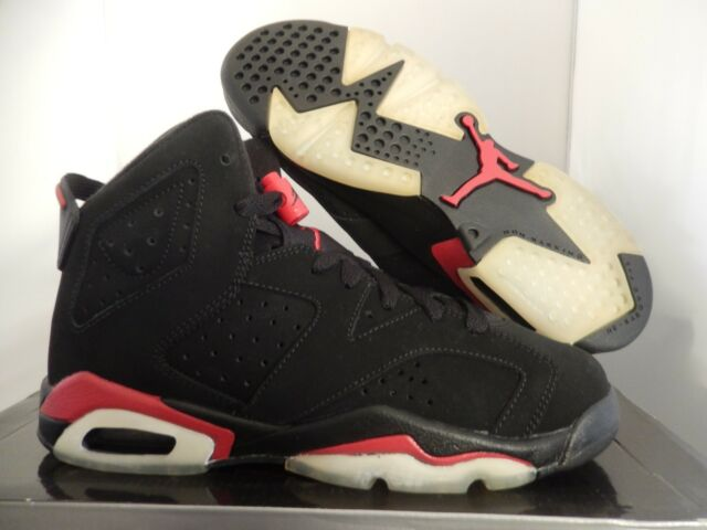 info for 68add cb24c NIKE AIR JORDAN 6 RETRO (GS) BLACK-RED SZ 6.5Y-WOMENS