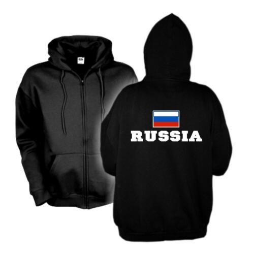 Kapuzenjacke RUSSLAND Russia Flagshirt Zip Hoodie Sweatjacke S-6XL WMS02-52e