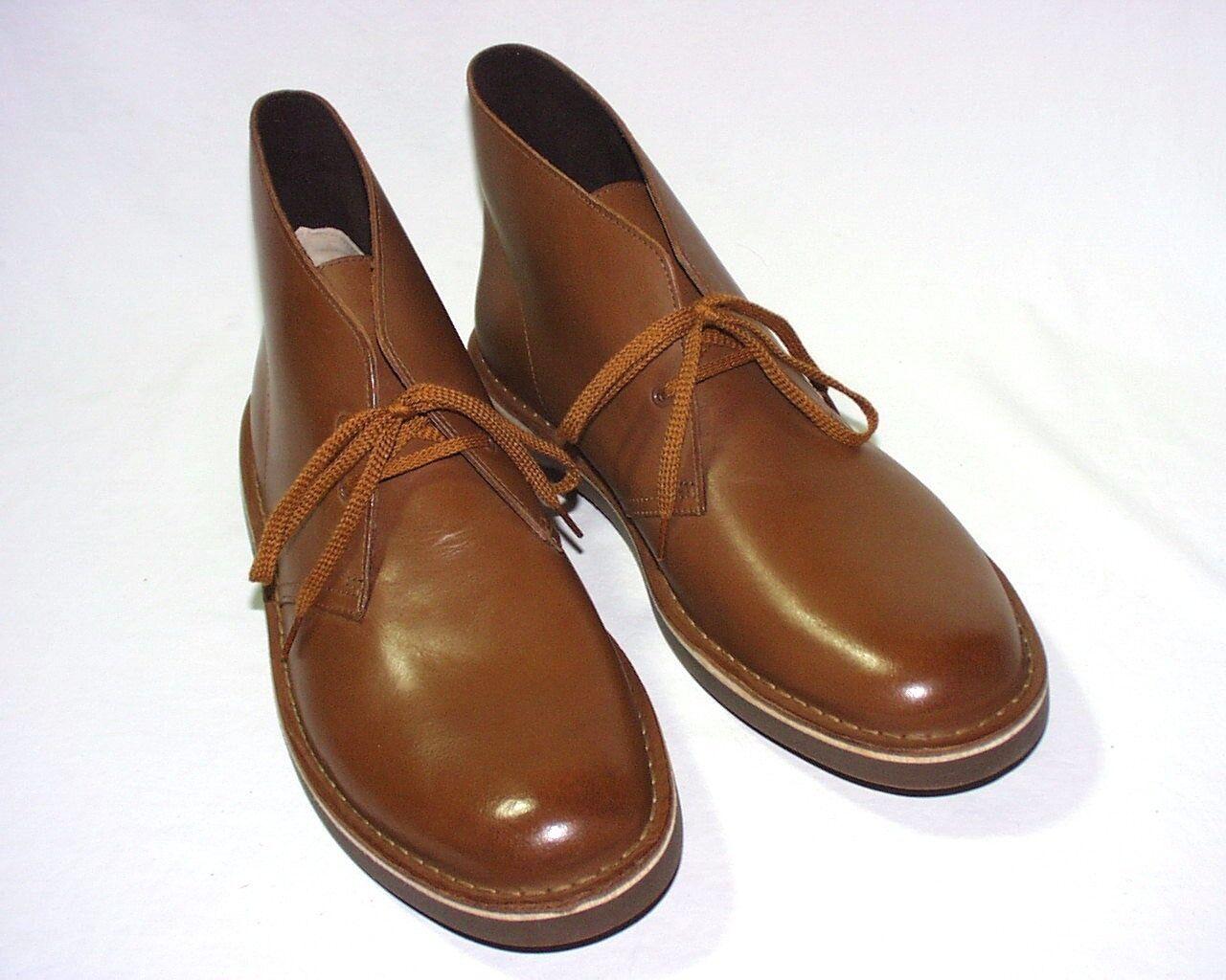 Clarks Bushacre 2 Desert Boots, Leather Upper, Tan or Gray, New
