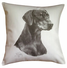 Doberman Pinscher MS Breed of Dog Themed Cotton Cushion Cover - Perfect Gift