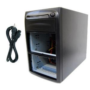 3-Burner-5-Bay-SATA-CD-DVD-Duplicator-Copier-Enclosure-Case-Tower-Replicator