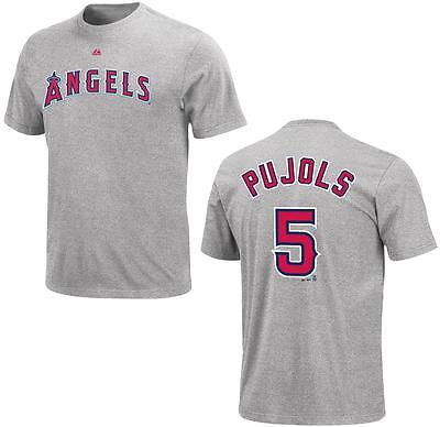 Baseball & Softball Kompetent Mlb Baseball T-shirt Los Angeles Angels Albert Pujols 5 Grau Sport