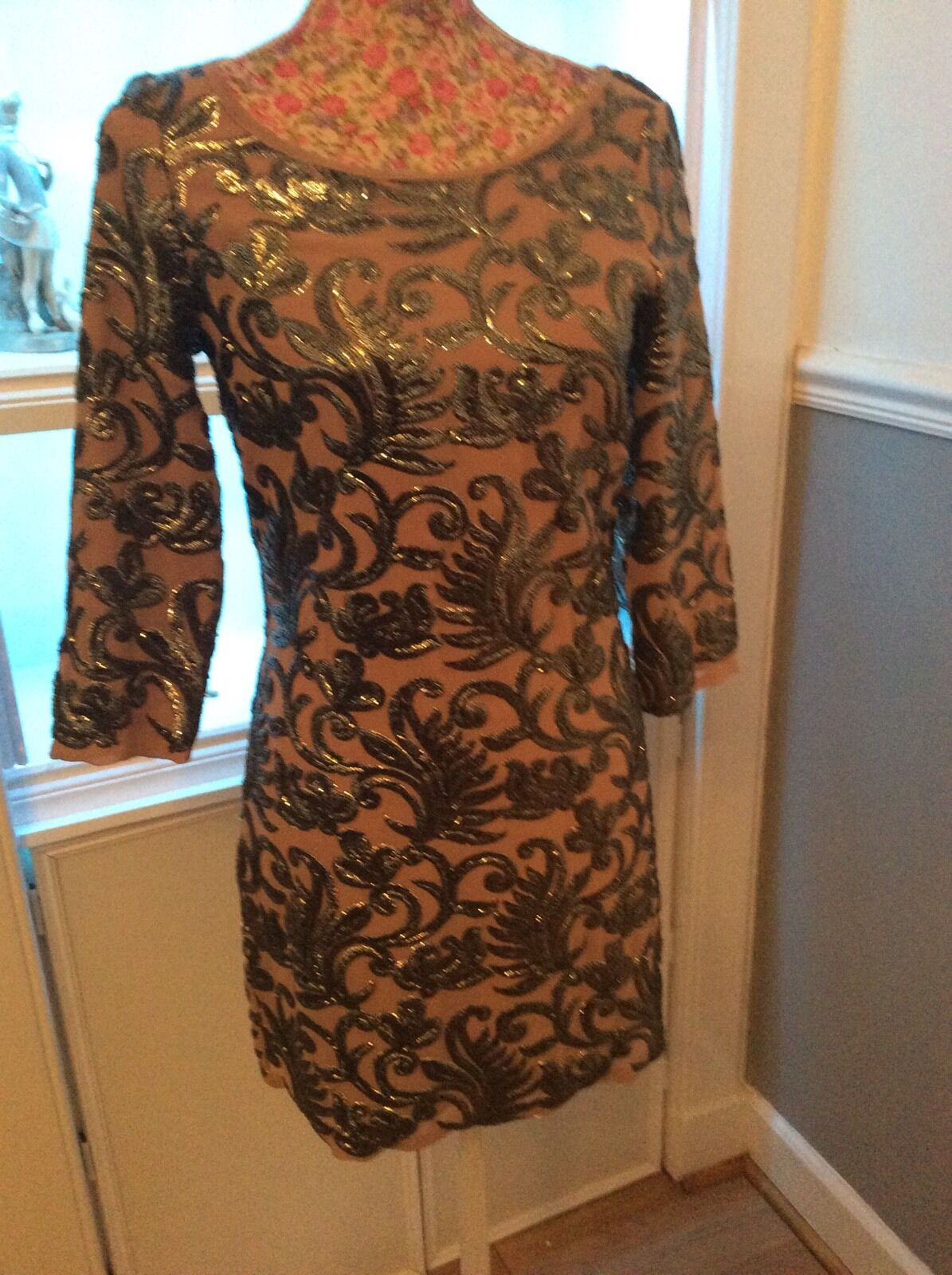 38344b7fc92 ... Monsoon Monsoon Monsoon Ally Mink Nude Dress Size 8 Bnwt Very Rare  Posting Daily Holiday 7a4a21 ...