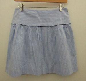 Womens-MADEWELL-Light-Blue-Seaboard-Stripe-Skyline-Skirt-Size-6-F21