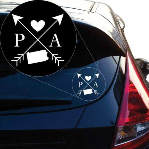 Pennsylvania Love Cross Arrow State PA Decal Sticker for Car Window Laptop #1103
