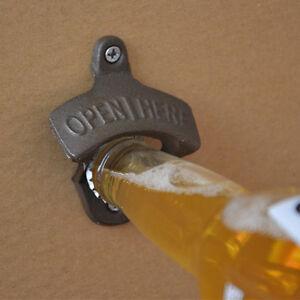1Stk.Retro Bier Wand FLASCHENÖFFNER Open Bottle Here Flaschenöffner Bieröffner