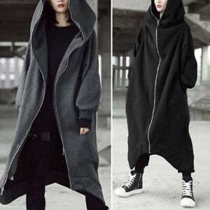 Women-039-s-Winter-Irregular-Hooded-Knit-Sweater-Cardigan-Outwear-Long-Coat-Jacket