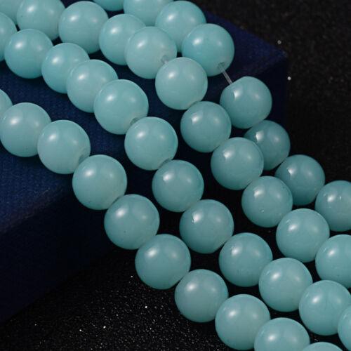 Jade Perles 8 mm environ 50stk semi pierres Design Best g29