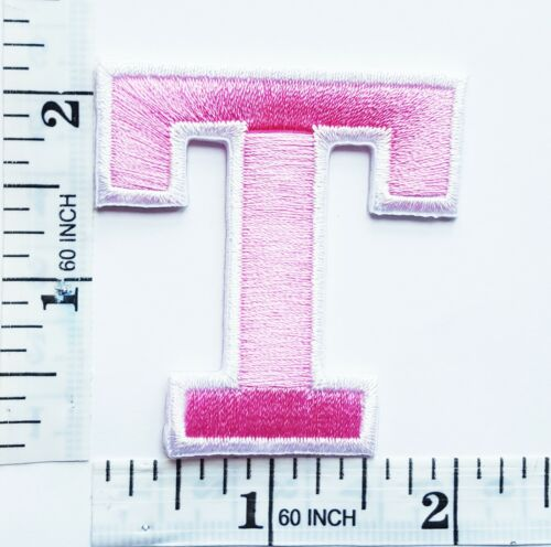 """2/"""" Pink Alphabet Letters Patches Embroidered Iron On Patch For Clothing Badges"""
