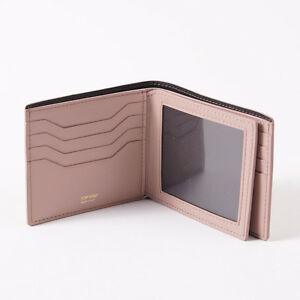 NWT-TOM-FORD-Light-Pink-Smooth-Leather-Bi-Fold-Wallet-with-ID-Window