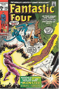 Fantastic Four Comic Book #105, Marvel Comics 1970 VERY FINE/NEAR MINT