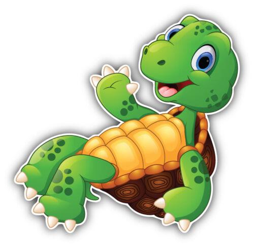 Happy Turtle Cartoon Car Bumper Sticker Decal 3/'/' or 5/'/'