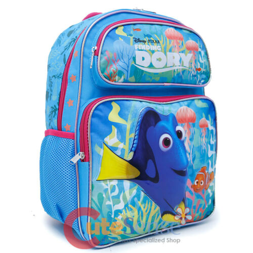 Pink Coral Finding Dory 16in School Backpack Lunch Bag Nemo 2pc Book Bag Set