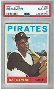 1964-Topps-Bob-034-Roberto-034-Clemente-440-PSA-8-Pittsburgh-Pirates-HOF